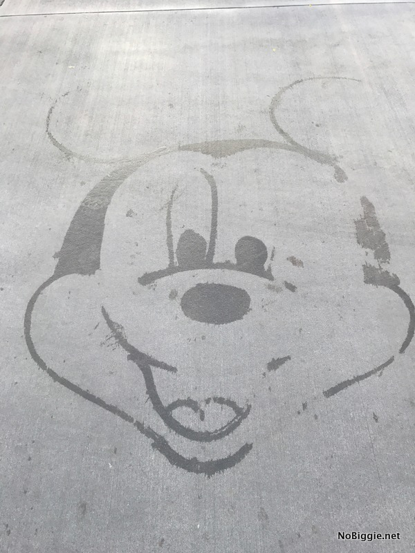 Mickey in Water on the ground