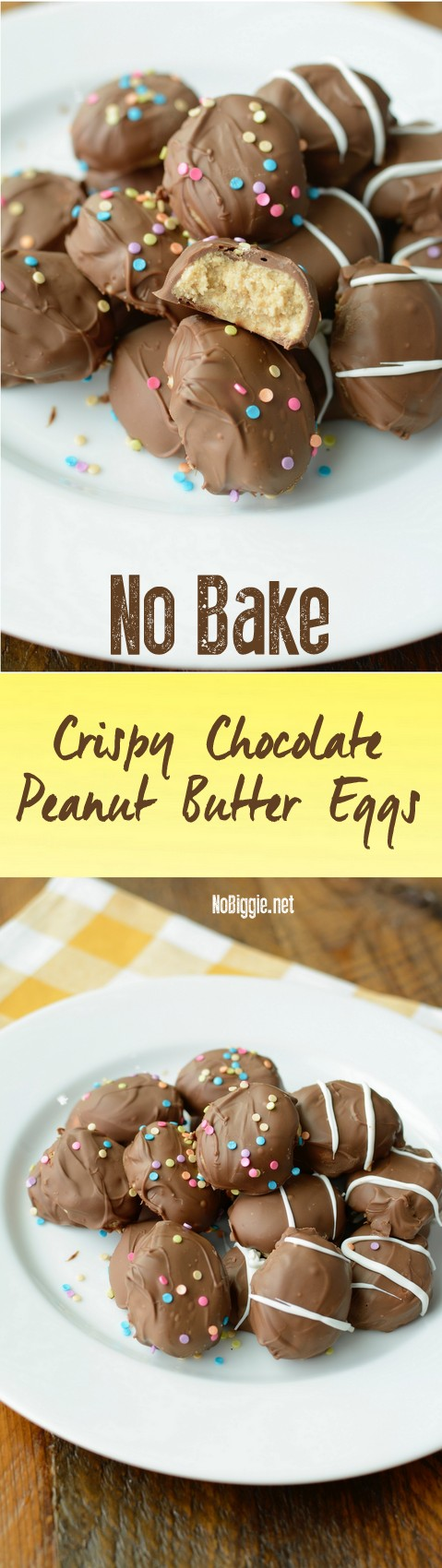 No Bake Crispy Peanut Butter eggs | NoBiggie.net