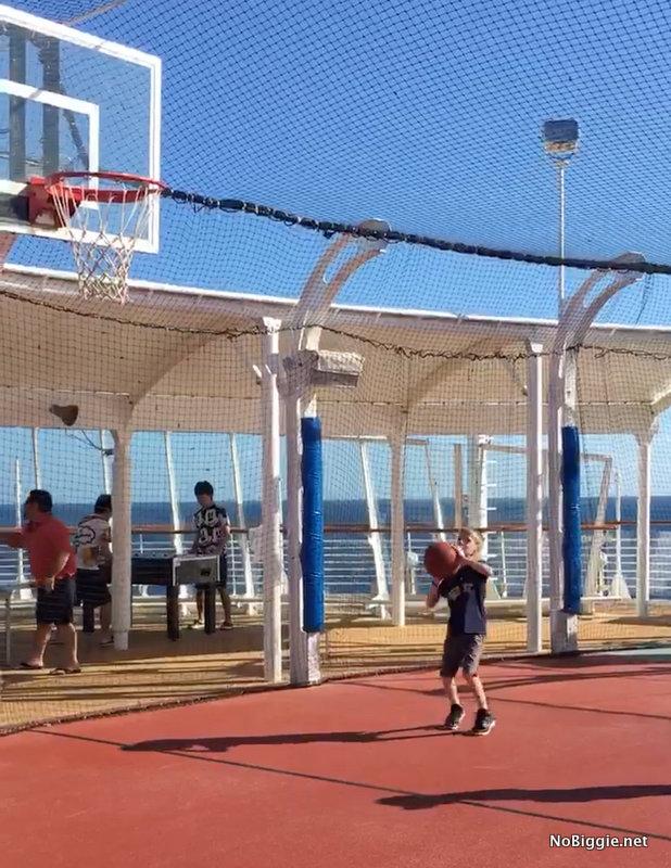 Playing BasketBall on the Disney Cruise