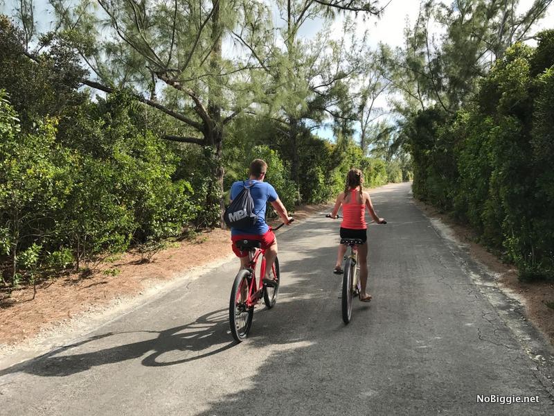 bike ride on Castaway Cay