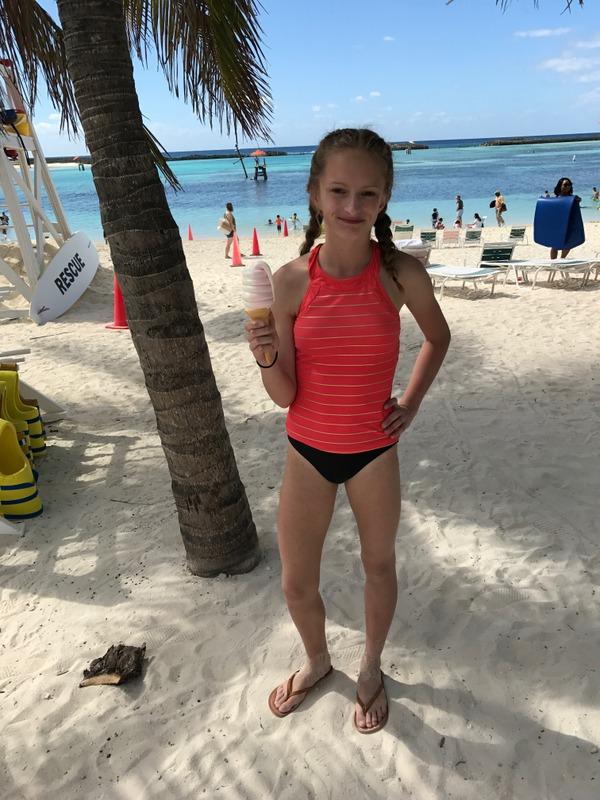 white sand CastAway Cay