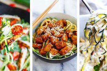 25+ Zoodle Recipes (Zucchini Noodles)