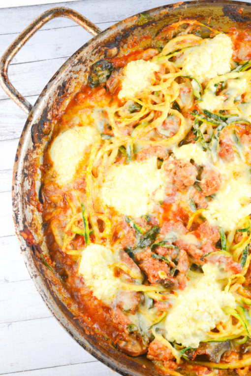 Baked Zucchini Noodle Ziti | 25+ Zoodle Recipes