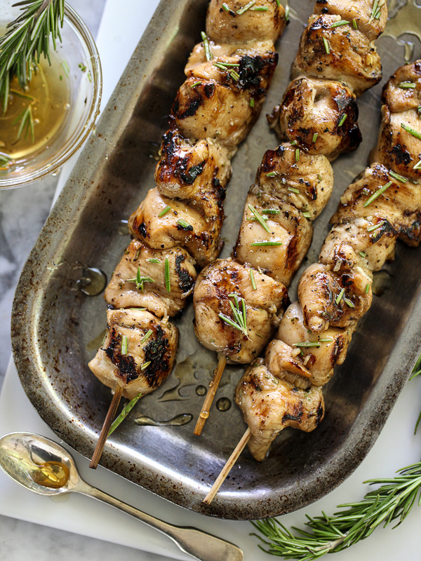 Balsamic And Honey Chicken Skewers  | 25+ High Protein Recipes