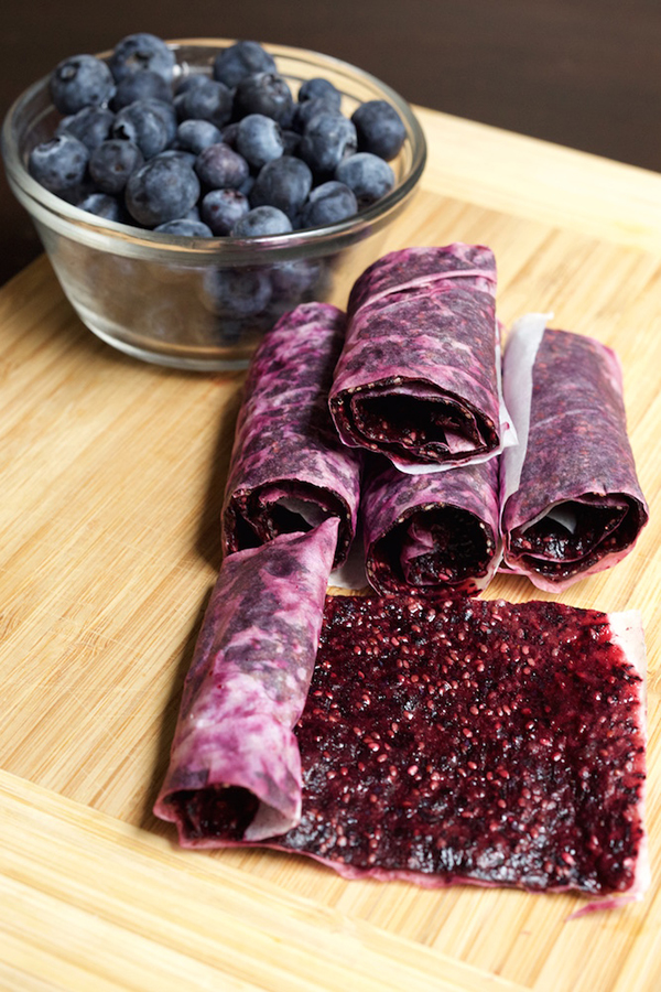 Blueberry Chia Seed Fruit Leather| 25+ Chia Seed Recipes