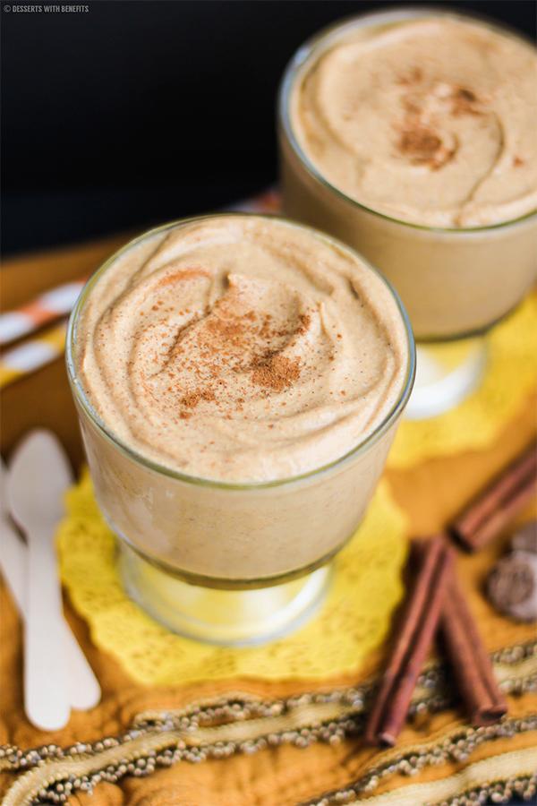 Healthy Pumpkin Pie Pudding    25+ High Protein Recipes