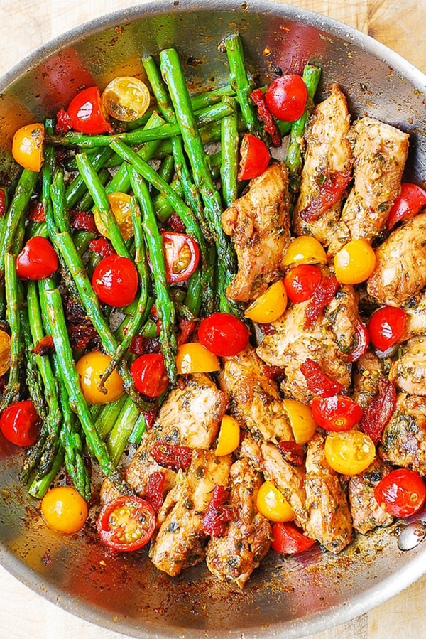 One Pan Chicken and Pesto    25+ High Protein Recipes