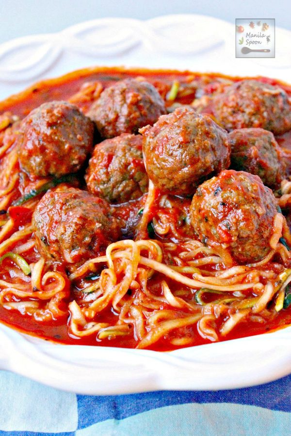 One pot meatballs and zoodles | 25+ Zoodle Recipes