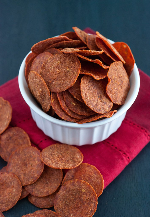 Pepperoni Chips   25+ High Protein Recipes