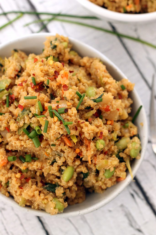 Thai Quinoa Fried Rice  | 25+ High Protein Recipes