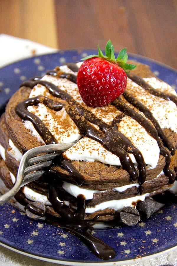 Tiramisu protein pancakes   25+ High Protein Recipes