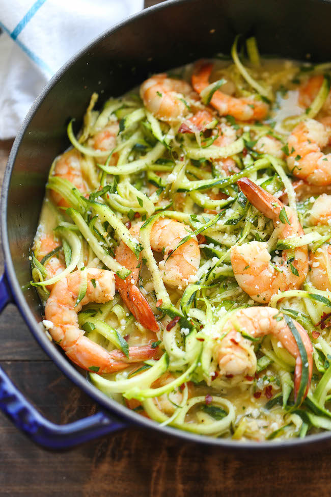 Zucchini Shrimp Scampi | 25+ Zoodle Recipes