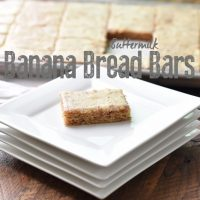 Buttermilk Banana Bread Bars