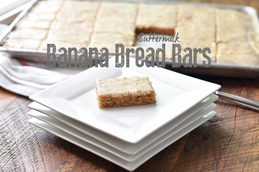 buttermilk banana bread bars | NoBiggie.net