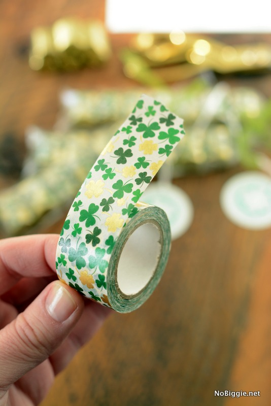 gold foil washi tape perfect for Hershey's Chocolate Nuggets