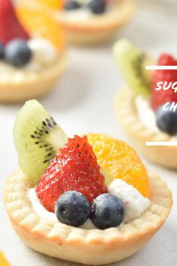 Sugar Cookie Fruit Tarts with a Cheesecake Filling
