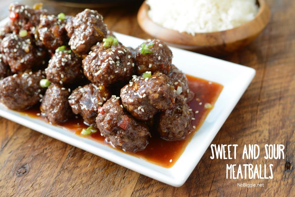 sweet and sour meatballs   NoBiggie.net