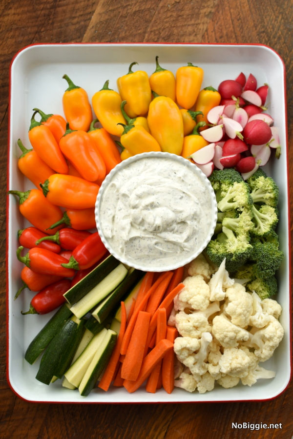 veggie dip with sour cream
