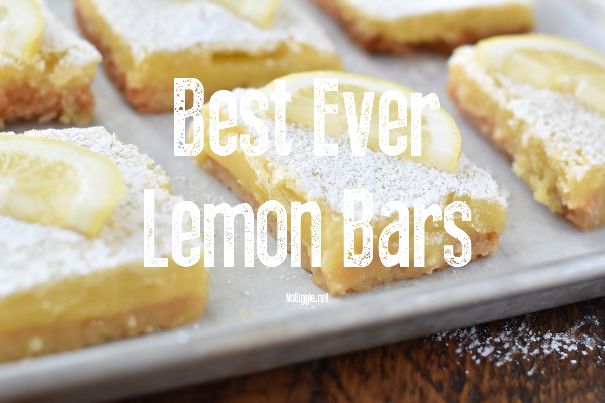 Best Ever Lemon Bars video | NoBiggie.net