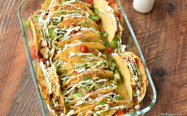 Crock Pot Chicken Baked Tacos | NoBiggie.net