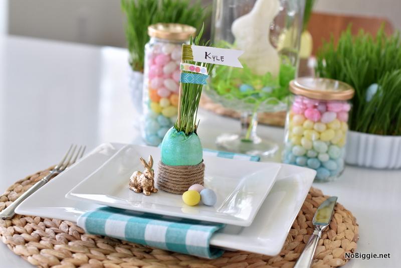 DIY Easter Grass Table Setting | NoBiggie.net