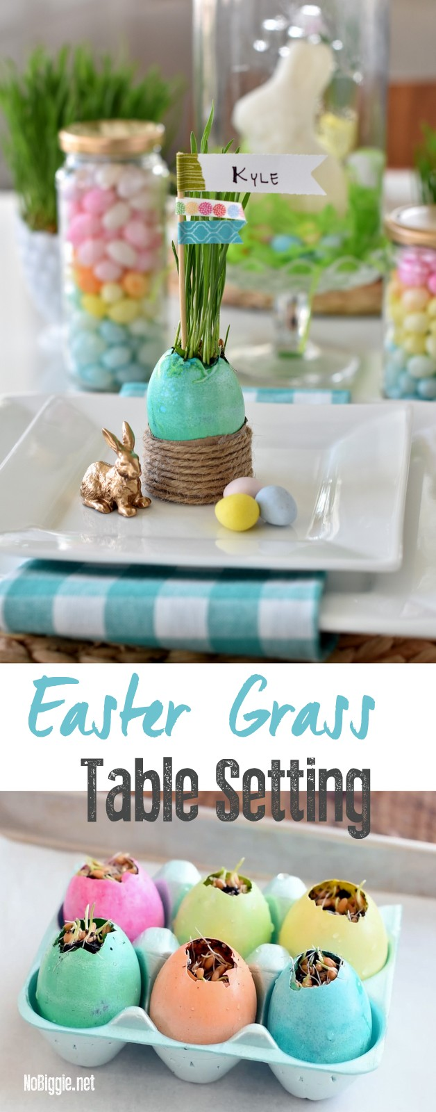 Easter Grass Table Setting DIY video