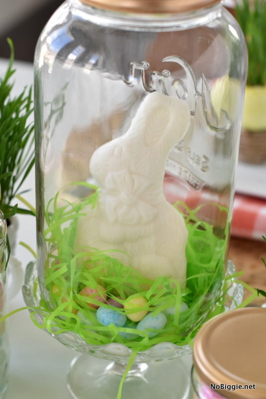 Easter Grass Table Setting