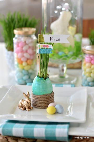 Easter Grass name Setting DIY | NoBiggie.net