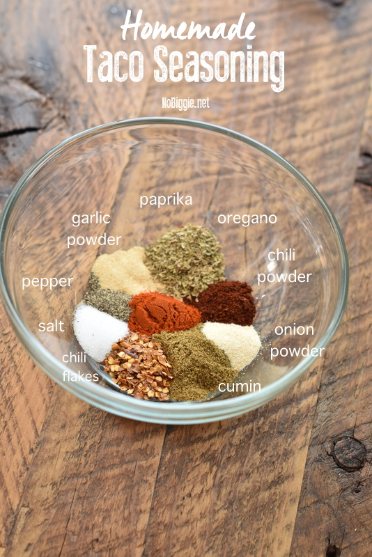 Taco seasoning recipe | NoBiggie.net
