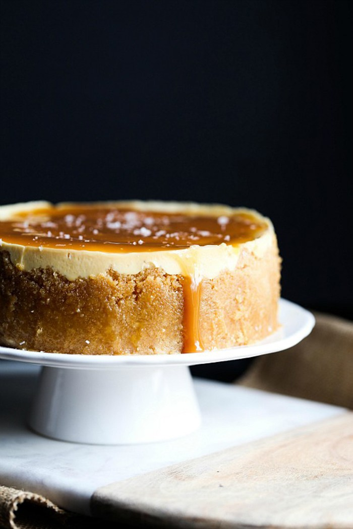 Instant Pot Salted Caramel Cheesecake | 25+ Sweet Instant Pot Recipes