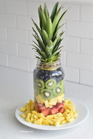 Pineapple Fruit Mason Jar