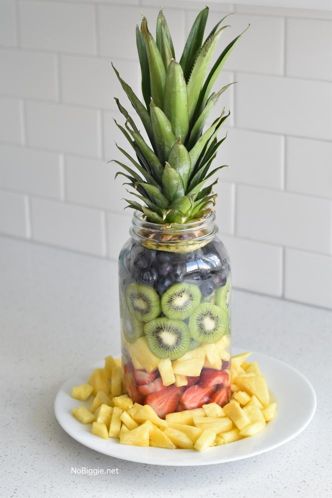 Pineapple Fruit Mason Jar