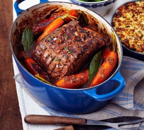 Pot-Roast Beef with French Onion Gravy   25+ Sunday Roast Recipes