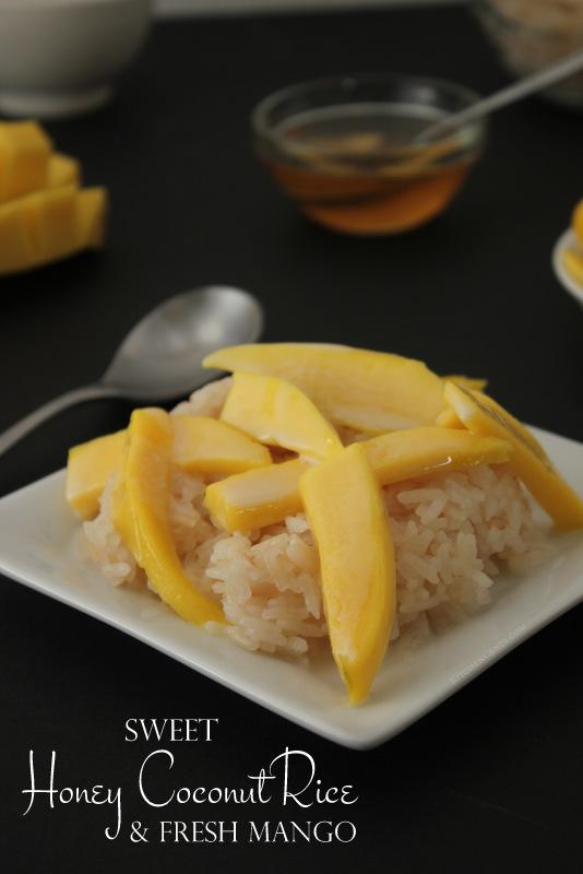 Sweet Honey Coconut Rice with Fresh Mango | 25+ Sweet Instant Pot Recipes