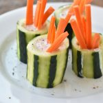 cucumber ranch cups with carrots