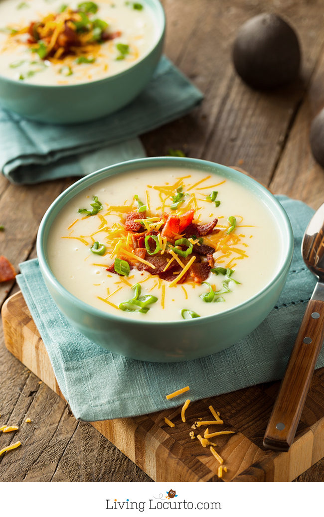 10 Minute Baked Potato Soup | 25+ Savory Instant Pot Recipes