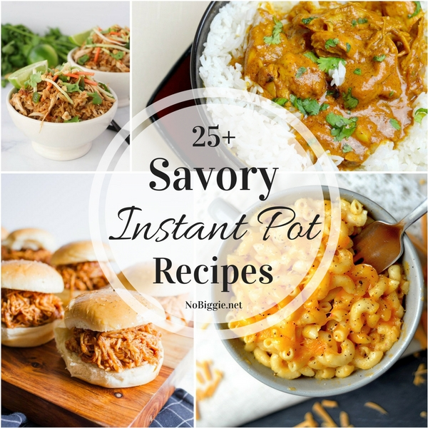 25+ Savory Instant Pot Recipes | NoBiggie.net