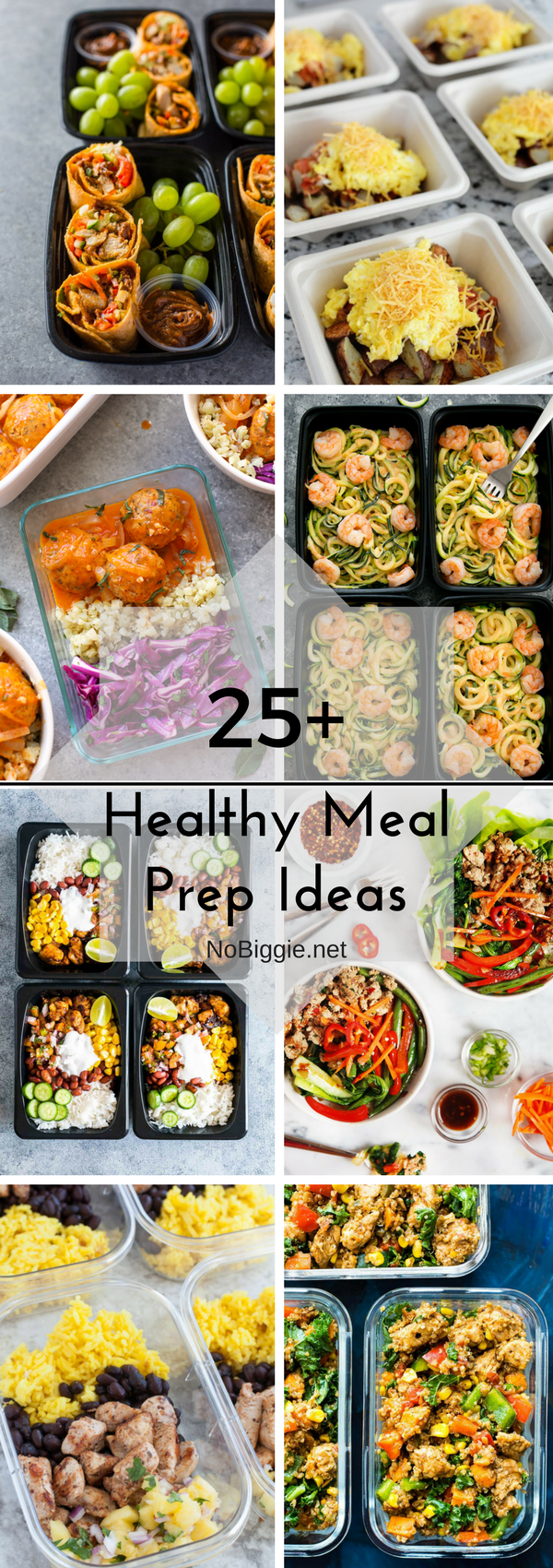 Healthy Meal Prep Ideas - With this awesome list of healthy meal prep ideas, you can prep it all on the weekend and have multiple days in a row ready to just grab and go. #healthymeals #mealprep #healthymealprep #healthyeating #mealprepideas