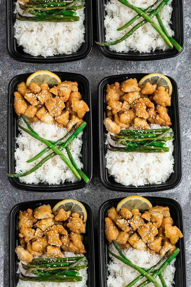 Asian Lemon Chicken | 25+ healthy meal prep ideas