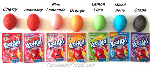 Easter Eggs Dyed With Kool Aid | 25+ cool ways to use Kool Aid