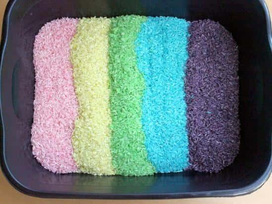 Kool Aid Dyed Rice | 25+ Cool Ways to Use Kool-Aid