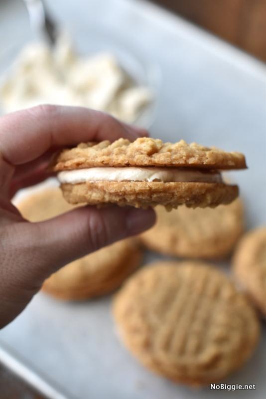 Peanut Butter Sandwich Cookies | NoBiggie.net