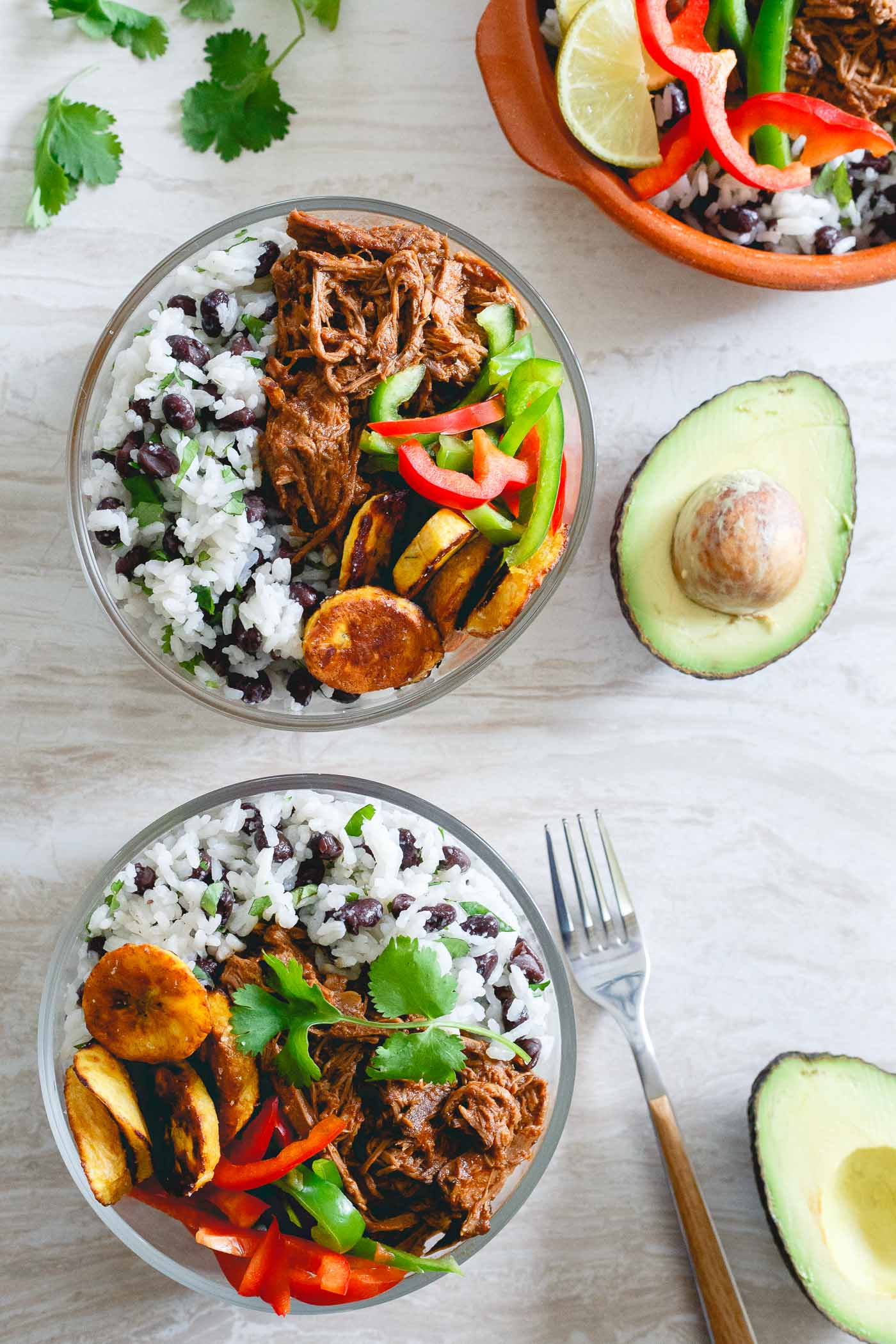 Shredded Mexican Beef Bowls | 25+ healthy meal prep ideas