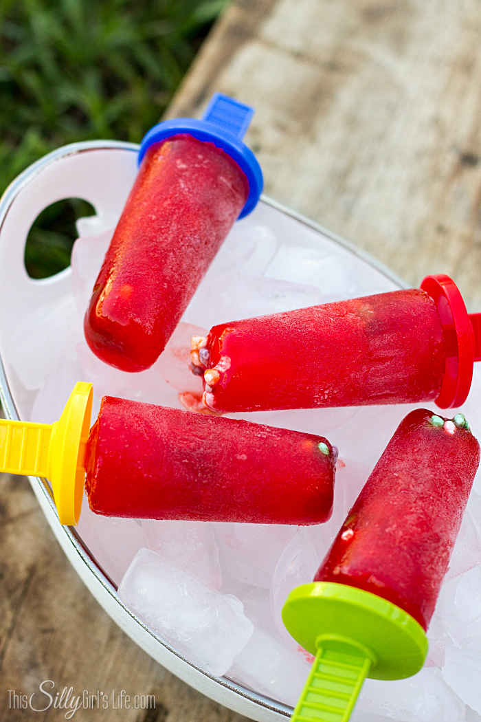 Strawberry Watermelon Nerds Popsicles | 25+ cool ways to use Kool Aid