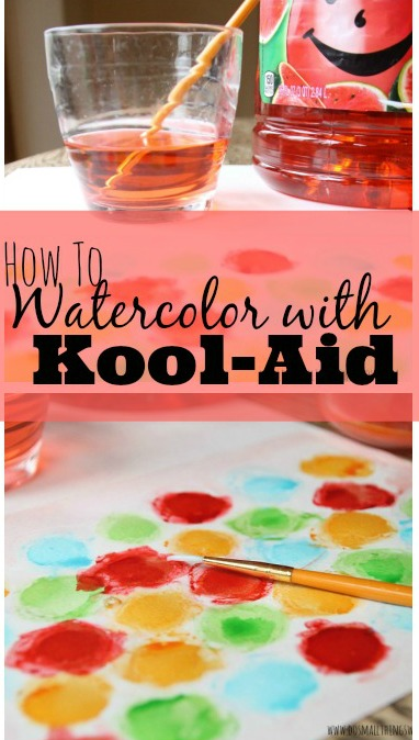 Watercolor With Kool Aid | 25+ cool ways to use Kool Aid