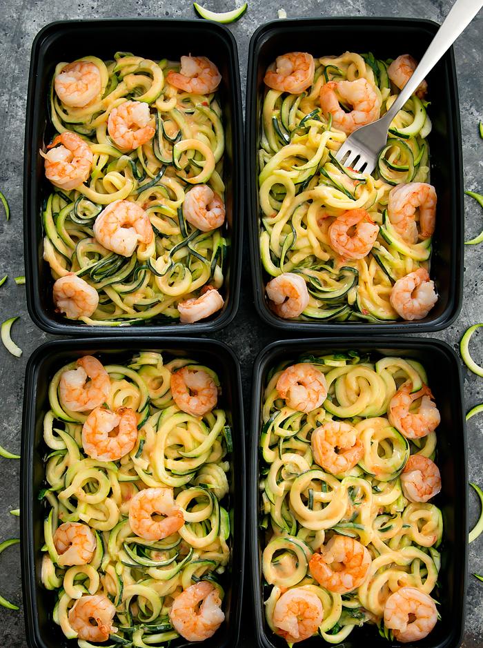 bang bang zucchini noodles meal prep | 25+ healthy meal prep ideas