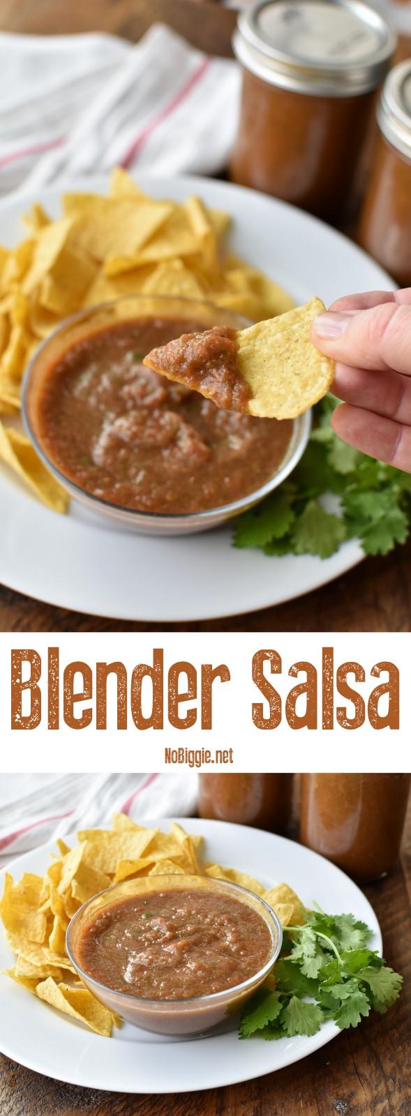 blender salsa | so good and so easy! | NoBiggie.net