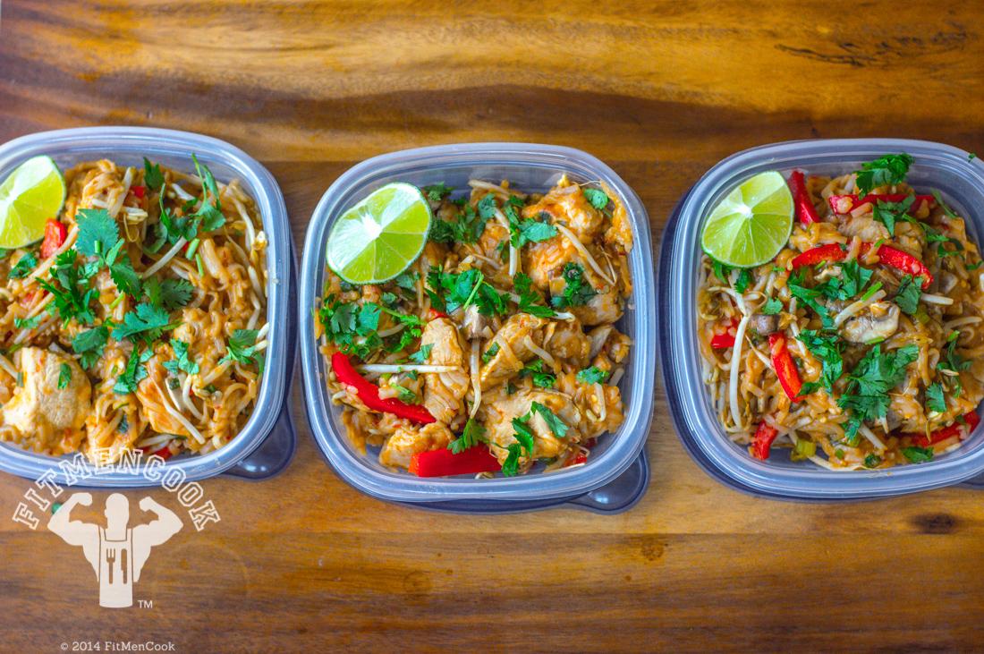 healthy chicken pad thai | 25+ healthy meal prep ideas