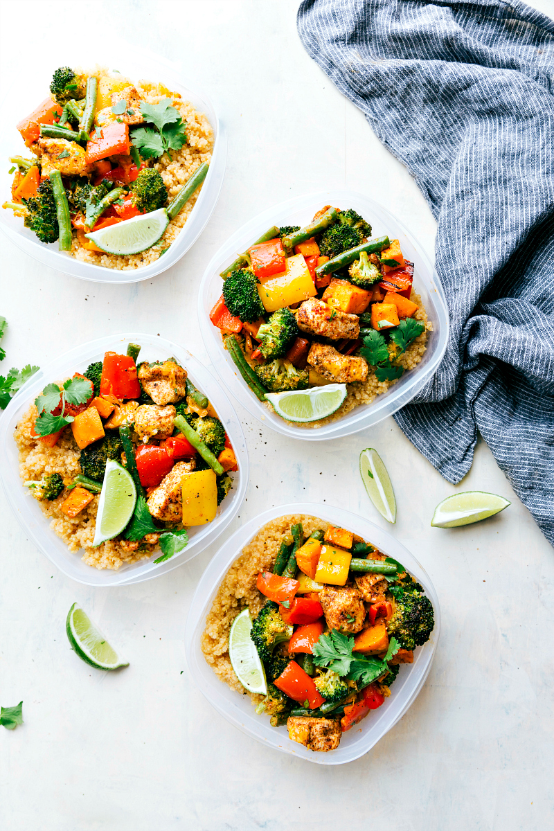 one pan healthy chicken and veggies | 25+ healthy meal prep ideas