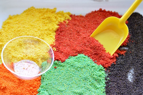 scented edible sand | 25+ cool ways to use Kool Aid